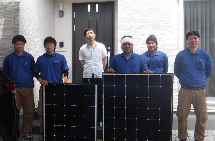 富山県富山市S様邸に太陽光の取り付け工事を行いました。