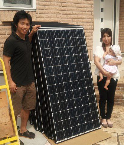 大津市 Y様邸にて太陽光取り付け工事を行いました