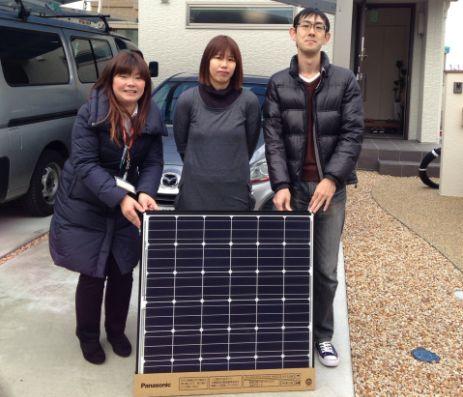 滋賀県草津市M様邸宅に太陽光の取り付け工事を行いました。