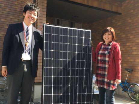 三重県四日市市H様邸に太陽光の取り付け工事を行いました。