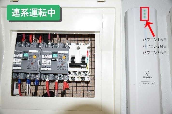 ランプ点灯イメージ 連系運転中:緑色