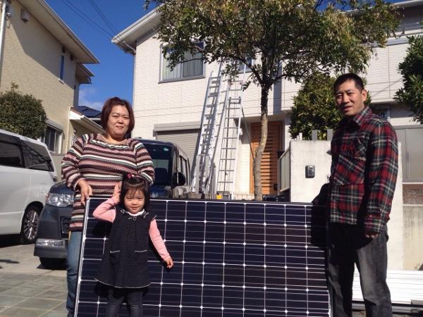 三田市 O様邸にて太陽光取り付け工事を行いました。